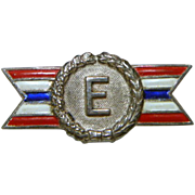 World War Two Sterling Silver Army Navy Production Award Pin