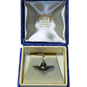 Very Rare WW 2 Cartier Boxed Sterling Silver Command Pilot  Pin