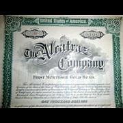 Alcatraz Company 1899 $1000 Gold Bond Certificate