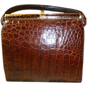 A Vintage Natural Alligator Handbag
