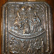 Antique Sterling Silver Plaque