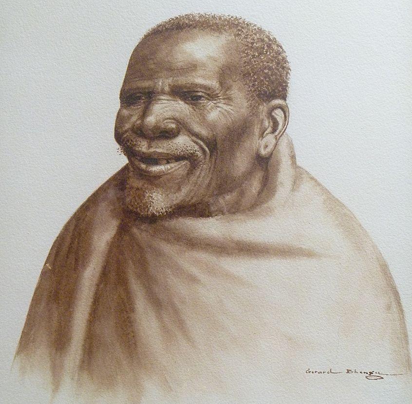 Watercolor by Gerard Bhengu
