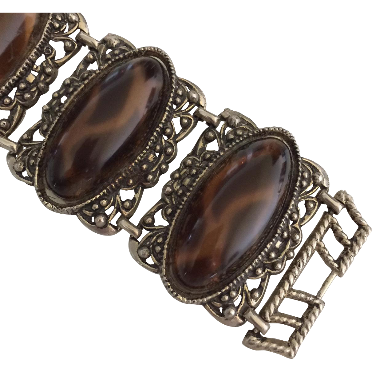Item ID: VintageCabochonBracelet In Shop Backroom