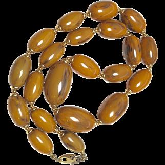 Lovely Marbled Bakelite Necklace