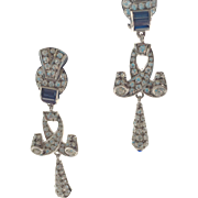 German Paste Deco Style Pforzheim Paste Earrings