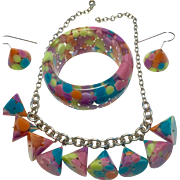 Sobral 3 Piece Resin Necklace, bracelet, and Earring Set