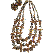 Magnificent Fall Crystal Vendome Necklace and Earring Set