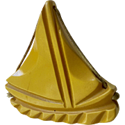 Bakelite Sailboat Brooch