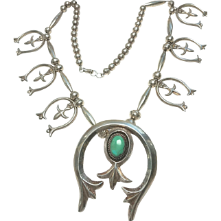 Sterling Native American Squash Necklace