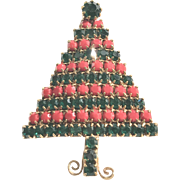 Red and green Christmas Tree pin