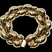 Signed Ciner Gold Tone Chain Bracelet