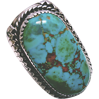 Gorgeous Native American Turquoise and Sterling Ring