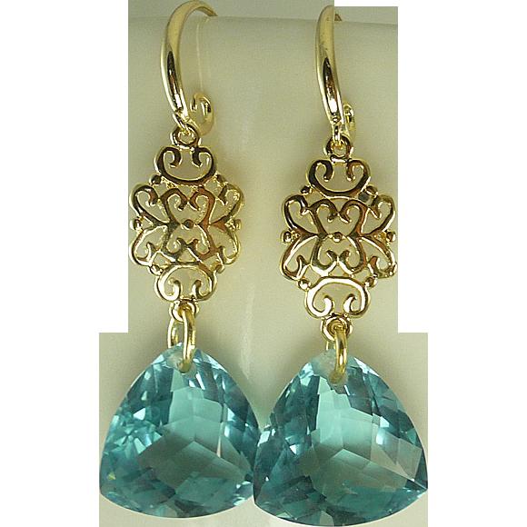 aaa prasiolite earrings sold on ruby