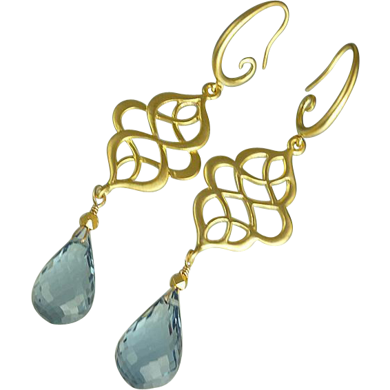 AAA London Blue Topaz Earrings