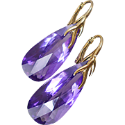 29.69ctw  AAA Royal Velvet Amethyst Earrings