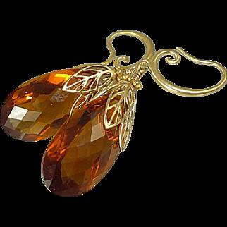 AAA Madeira Citrine Earrings