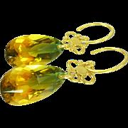 Bi-Colored Ametrine & Balinese Vermeil Earrings