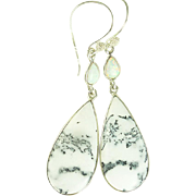 Dendritic Opal Sterling Earrings