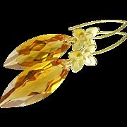AAA Honey Citrine Earrings