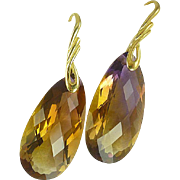 AAA Ametrine & 24k Gold Vermeil Earrings