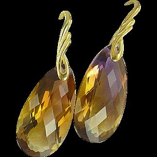 AAA Ametrine & 24k Gold Vermeil Earrings