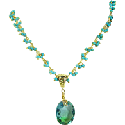 Bi-Colored Ametrine & Turquoise Vermeil Necklace