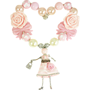Pink Paris Doll Necklace