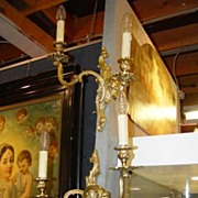 Pair of Vintage French Bronze Sconces
