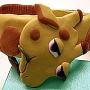 1980s Clay Figural Giraffe Bracelet ~ Artist Signed