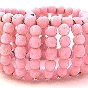 Wired Pink Glass Beaded Wrap Bracelet