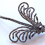 Victorian Cut Steel Dragonfly Dress or Hair Ornament