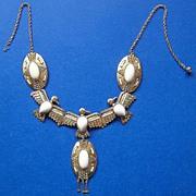 Richelieu Egyptian Revival Phoenix Bird Bib Necklace