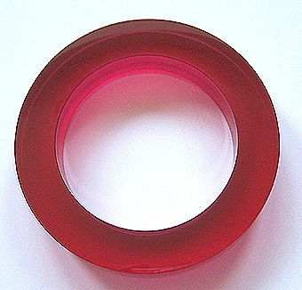 Estee Lauder Fuschia Lucite Bangle