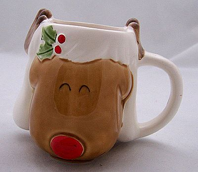 Vintage Japan Child's Christmas Rudolph the Red-Nosed Reindeer Mug