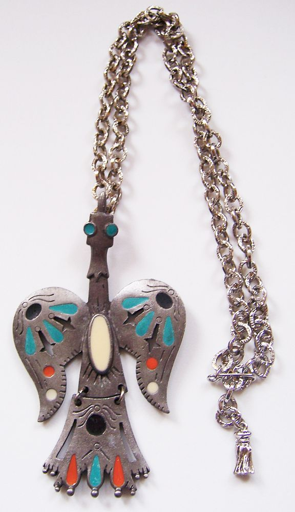 Gold Crown, Inc. Southwestern Style Phoenix Bird Pendant Necklace