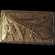 Vintage Elgin American Gold Tone Embossed Compact Carryall