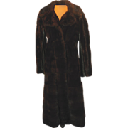 Vintage Black Ebony Natural Mink Coat