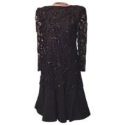 Vintage Black Dress with Lace from Saks Fifth Avenue