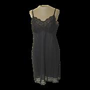 Vintage Vasserette Black Slip with Lovely Lace