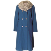 Vintage Holly Poplin Blue Coat