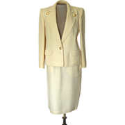 Vintage Valentino Off- White Suit