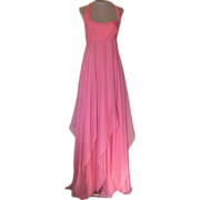 Jacques Fath Silk Pink Evening Gown with price tags