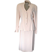 Vintage Pale Pink Day Mor Couture Suit with Beading