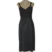 Vintage Black Corliss Slip with Lace