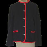 Vintage  Trachten AUS Osterreich von Macintosh NavyBlue with Red Trim Wood Jacket