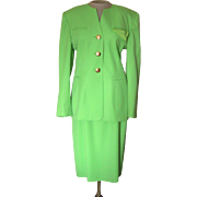 Vintage Escada Lime Green Suit