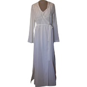 Valerie Stevens Soft White  Nightgown and Robe with Lace