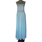 Light Blue Diane Von Furstenberg Nightgown with Lace Panels