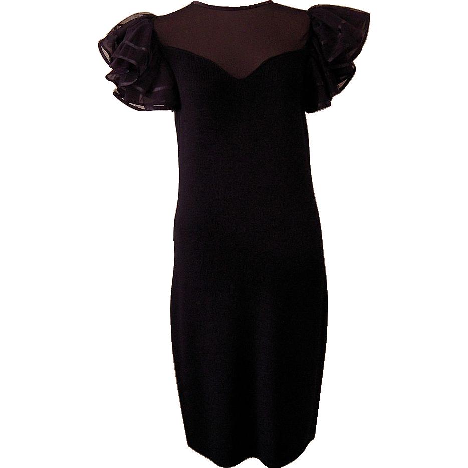 Black dress neiman marcus - Vintage St John Black Knit Dress From Neiman Marcus