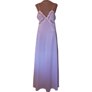 Vintage White Val Mode Long Nightgown with Lace
